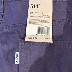 Levis colored cotton twill slim trousers. 36x34